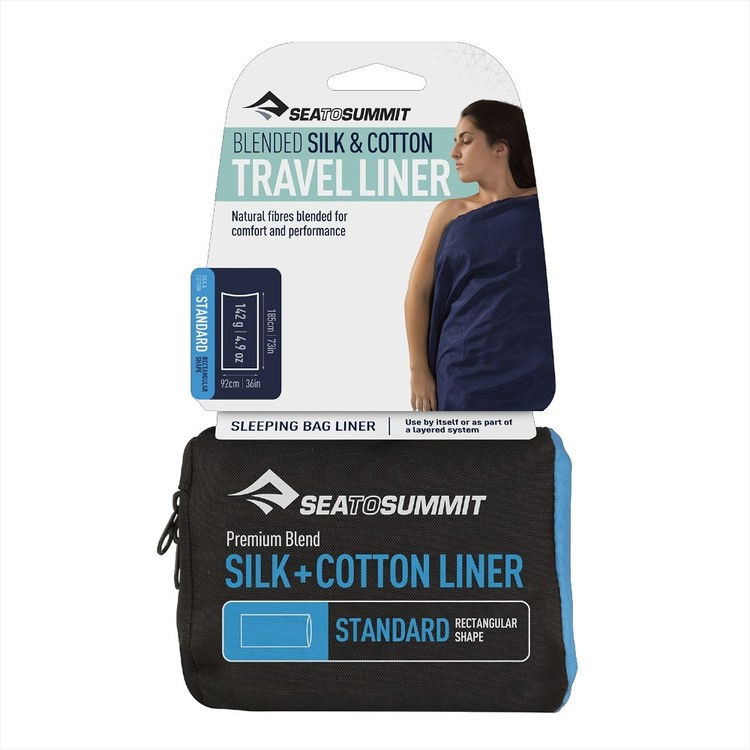 Sea to Summit Silk & Cotton Standard Liner Navy