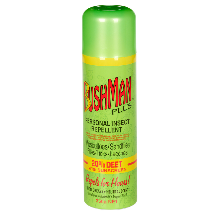Bushmans Aerosol With Sunscreen Green