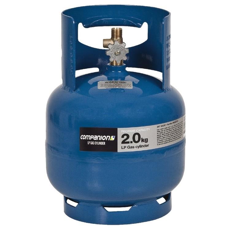 Companion LH 2 kg Gas Cylinder