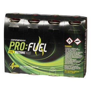 Companion Pro Fuel Butane Gas 220g 4 Pack