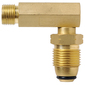 Companion 3/8 LH POL Right Angle Adaptor