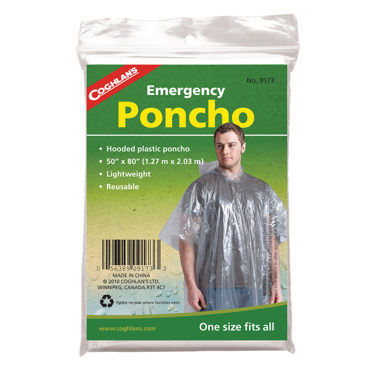 Coghlans Emergency Poncho White
