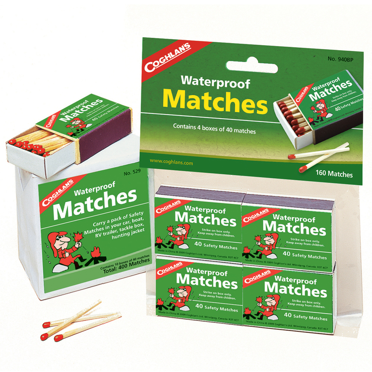 Coghlans Waterproof Matches 4 Pack