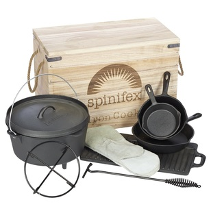 Spinifex Cast Iron Wood Crate Cook Set
