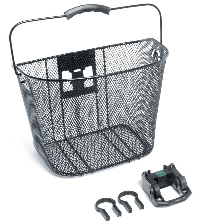 Bike Corp Front Wire Basket With Quick Release Black