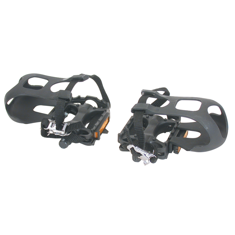 Bike Corp Pedal With Toe Clip & Strap Black