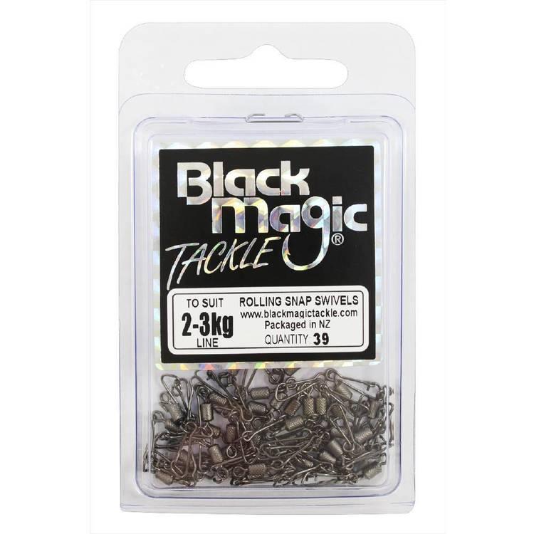 Black Magic Rolling Snap Swivel Economy Pack
