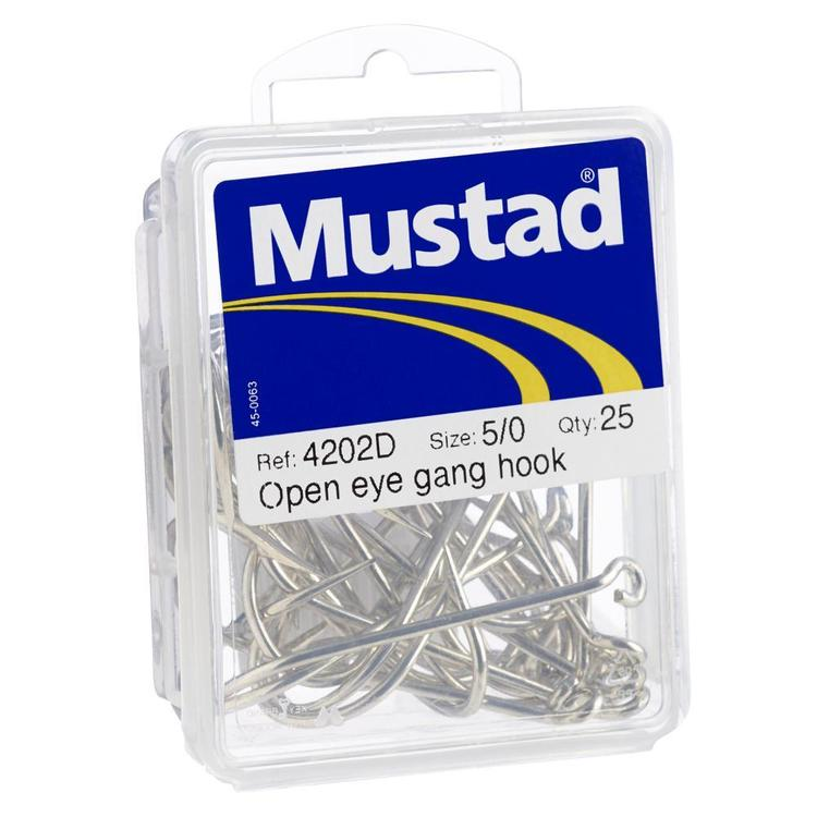 Mustad Kirby Openeye Hook 25 Pack Grey