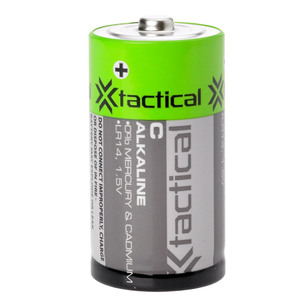Tactical Alkaline Batteries 1.5V C 2 Pack