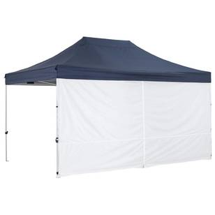 Oztrail Gazebo Solid Wall Centre Zip 4.5m
