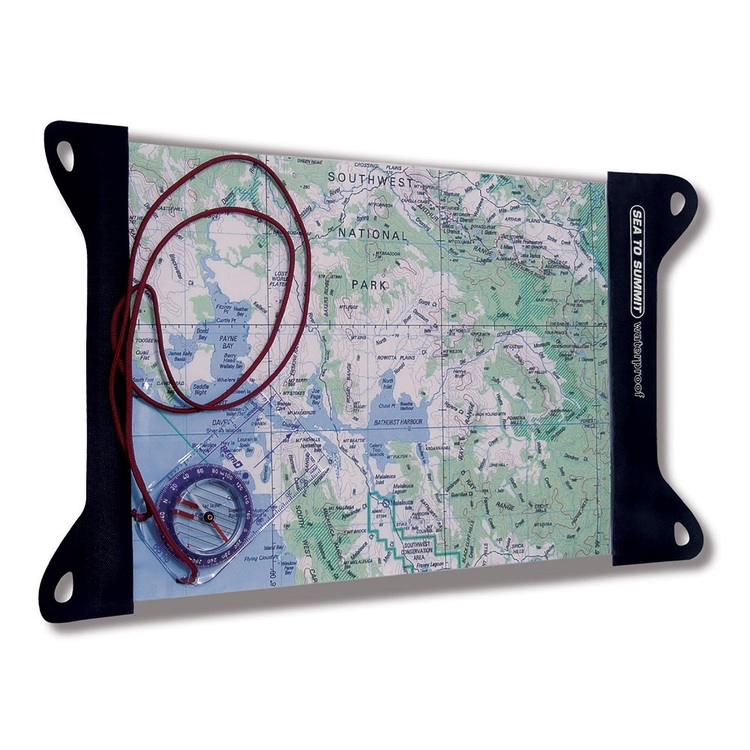 Sea to Summit Guide Map Case Clear & Black Small