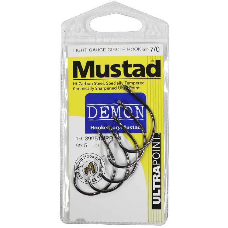 Mustad 39951NPBLN DL Circle PP Hook