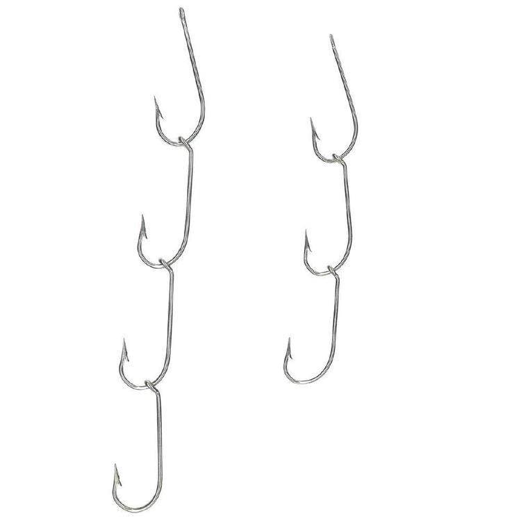 Mustad Ganged 4 Hook 3 Set