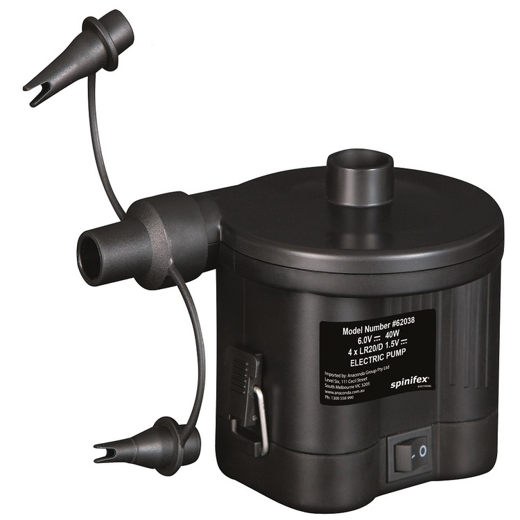 Spinifex Battery Electric Air Pump Black