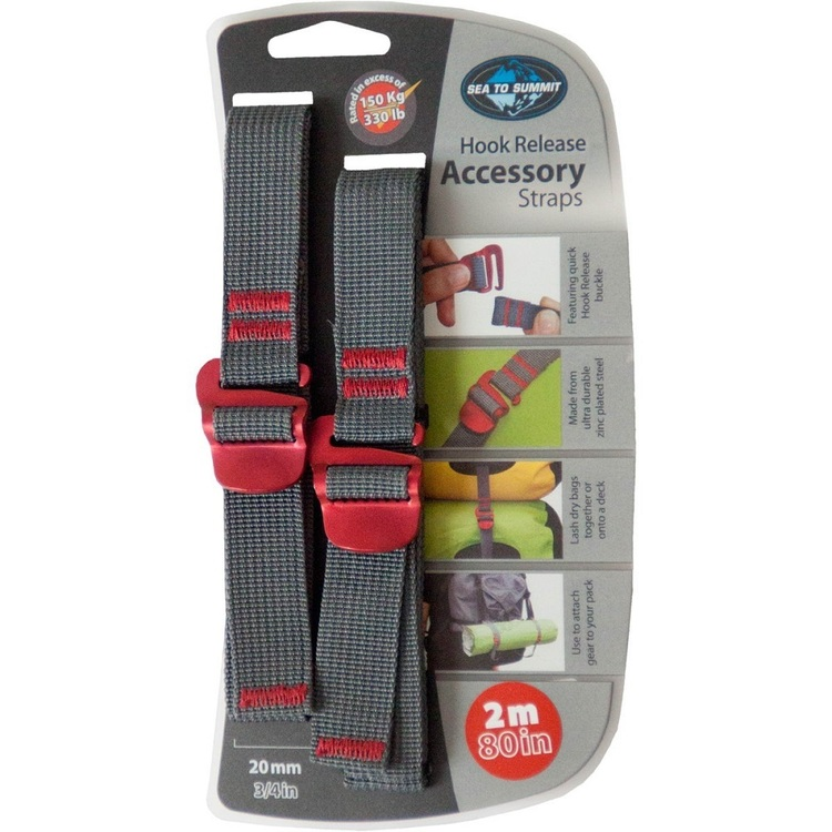 Sea to Summit 20 mm Tie Down Strap With Hook Grey