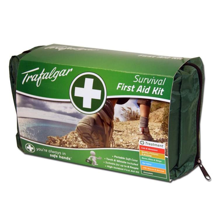 Trafalgar Survival First Aid Green Bag Green