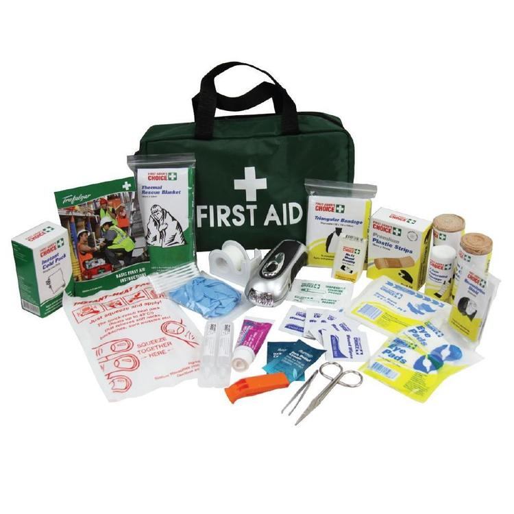Trafalgar Survival First Aid Green Bag