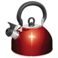 Campfire Whistling Kettle Red 4 L