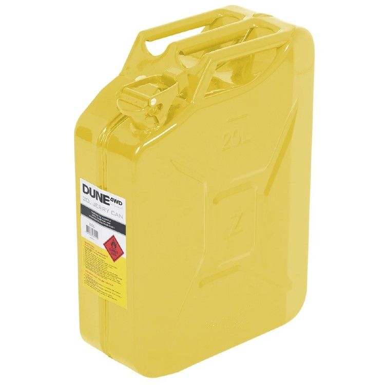 Dune 4WD 20L Yellow Metal Jerry Can