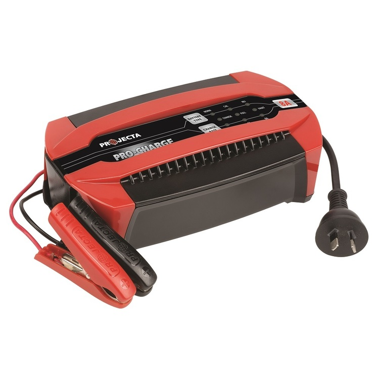 Projecta Pro-Charge 12V 8A 6-Stage Battery Charger