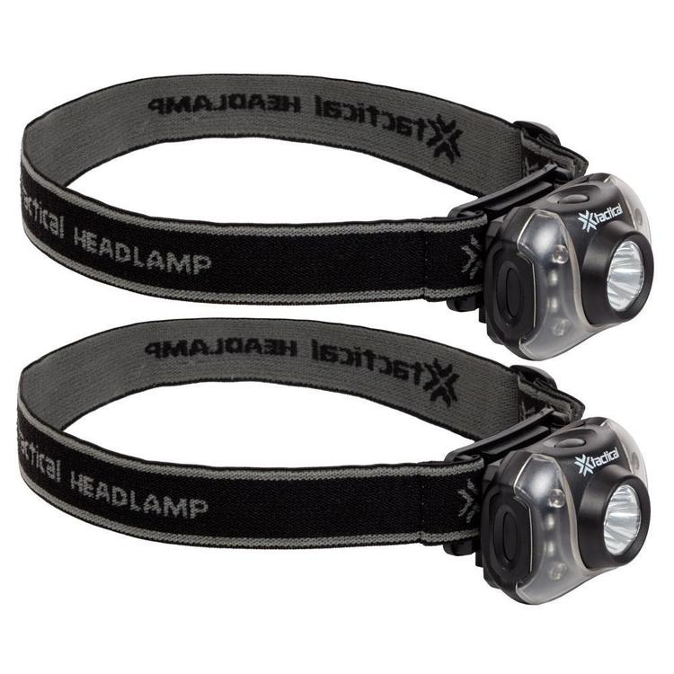 Tactical 4 + 3 LED Headlamp 2 Pack