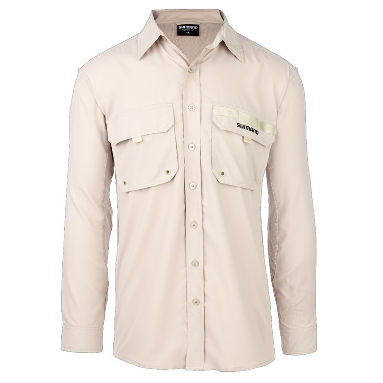 Shimano Adults' Oatmeal Vented Fishing Shirt