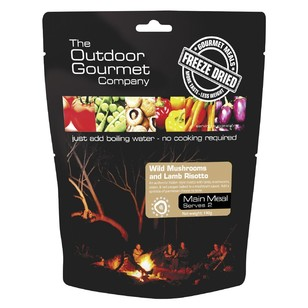 The Outdoor Gourmet Company Wild Mushroom & Lamb Risotto  Double Serve