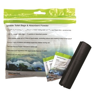 Elemental Toilet Bags & Absorbent Powder
