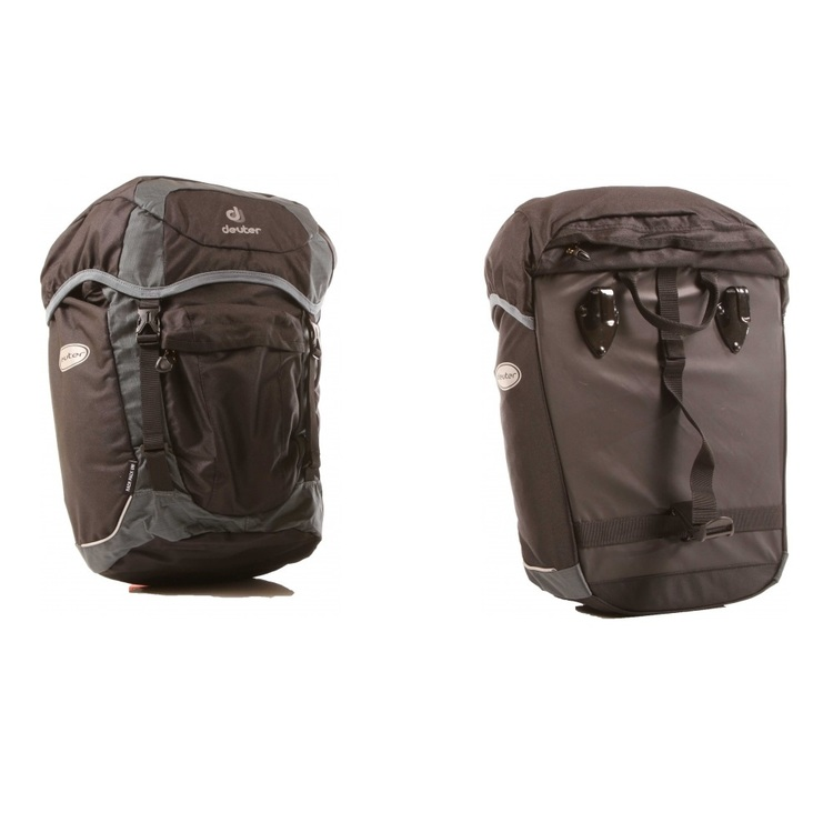Deuter Rack Pack Universal Bike Pannier Black & Granite 38 L
