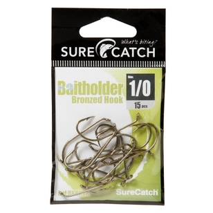 SureCatch Bronzed Bait Holder Hooks