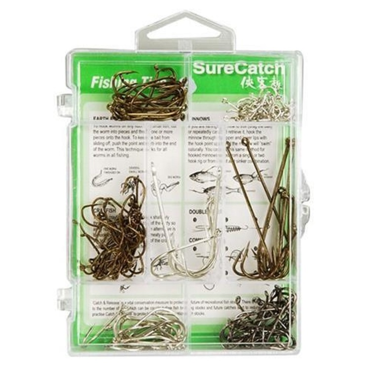 SureCatch 140 Piece Assorted Hook Pack