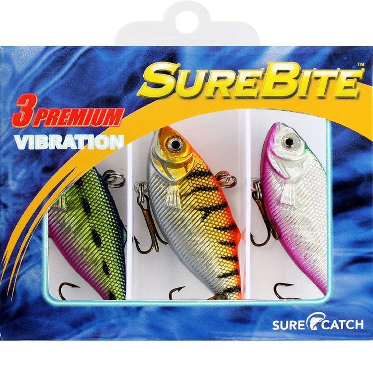 Surecatch Surebite Vibration Lure Pack Multicoloured 60 mm