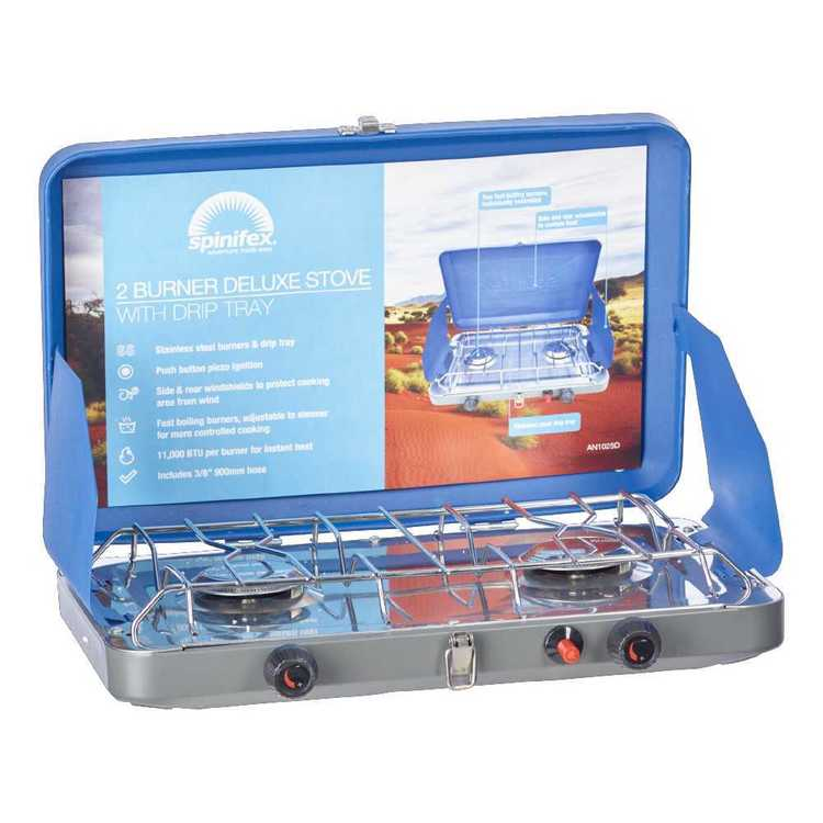 Spinifex Deluxe 2 Burner Camp Stove Blue