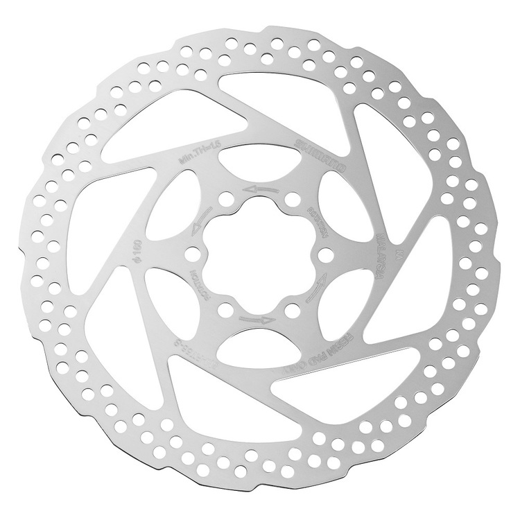 Shimano Alivio 160mm 6-Bolt Disc Rotor Silver 160 mm