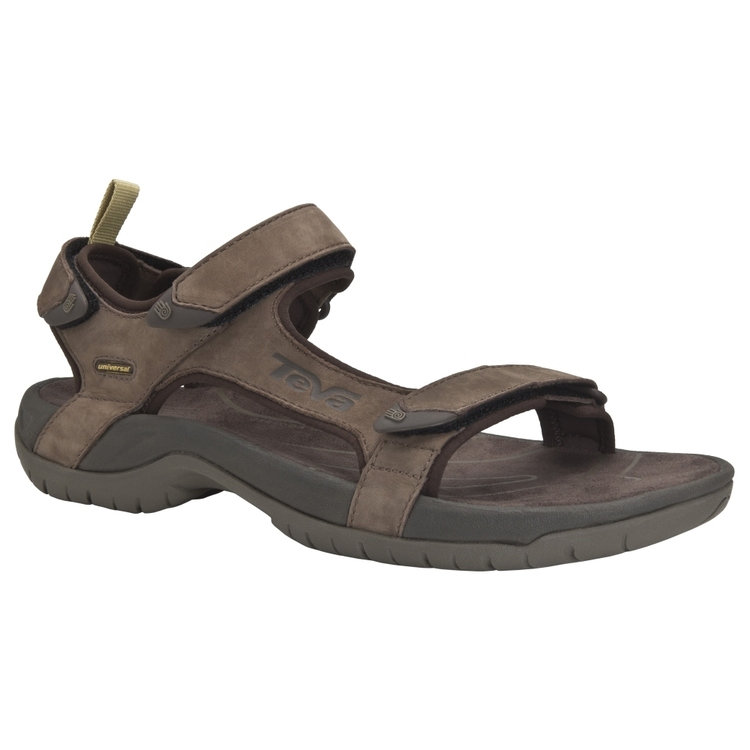 Teva Men's Tanza Leather Sandals Brown