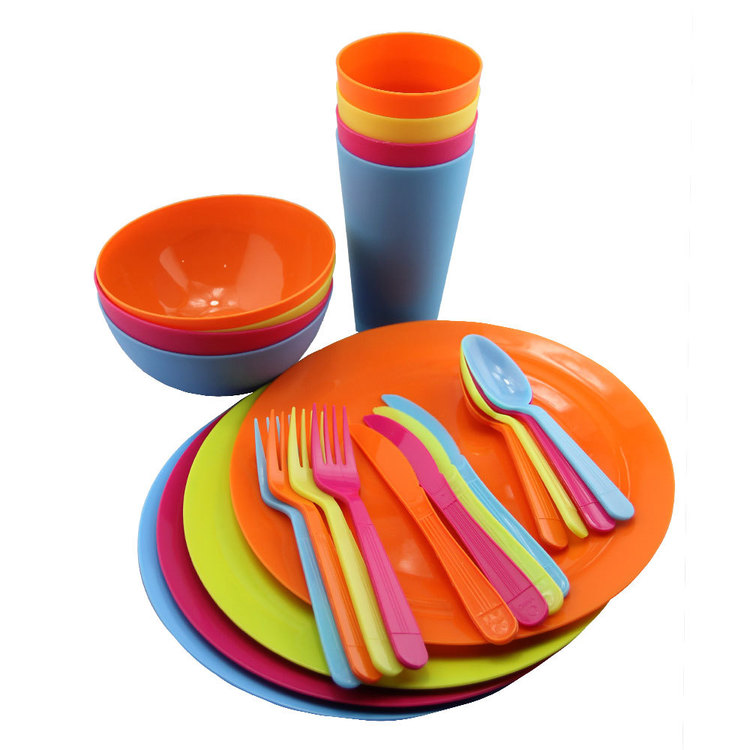 Spinifex 24 Piece Dining Set Multicoloured