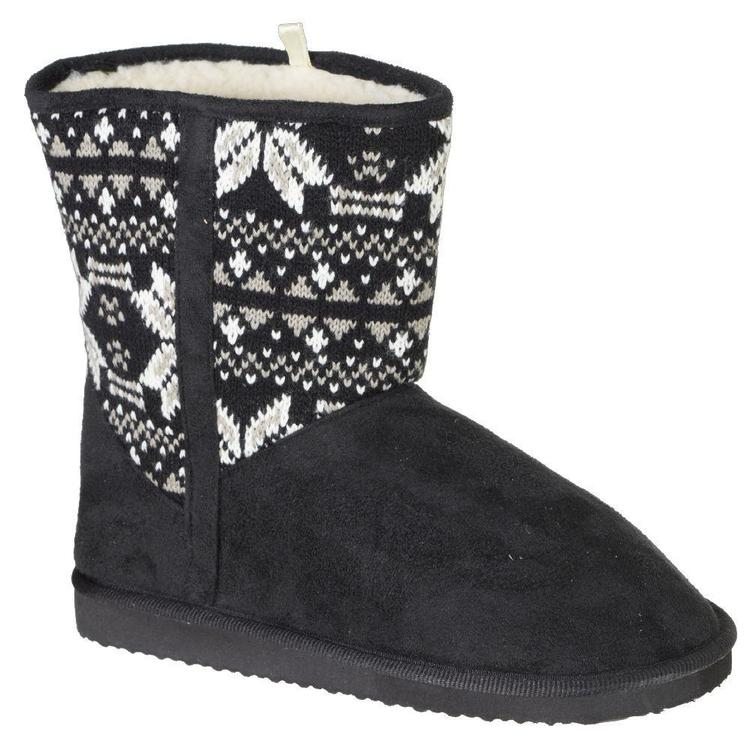 Cape Women's Valarie Knit Boots Black & White