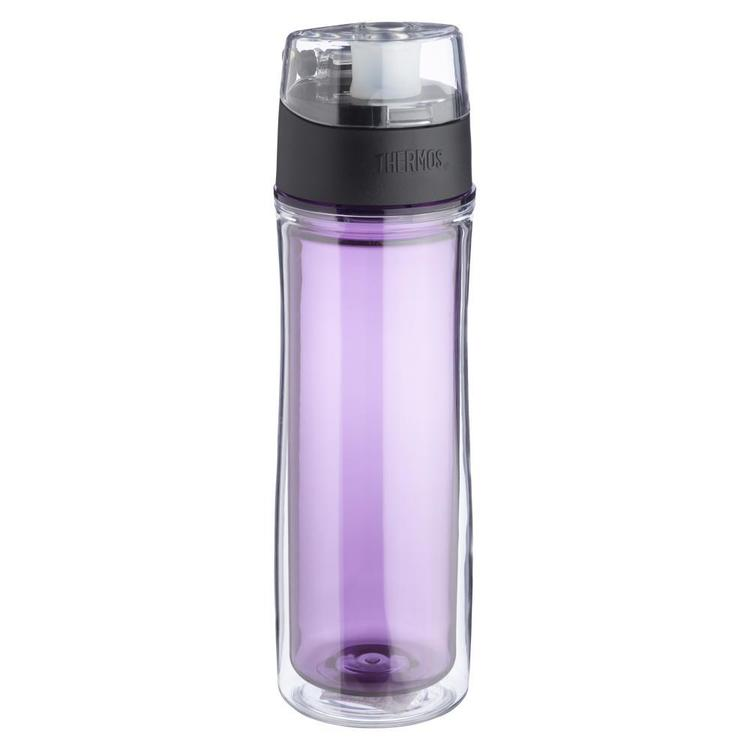 Thermos Plastic Double Wall Hydration Bottle Purple 530 mL