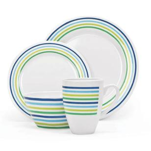 Campfire 16 Piece Melamine Set Sea Breeze