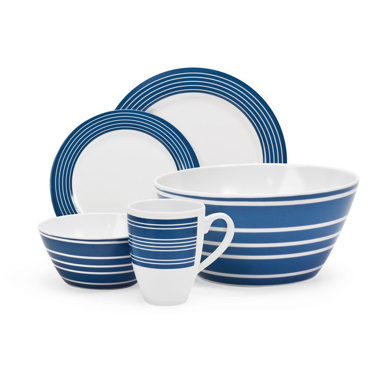 Campfire 24 Piece Melamine Set Nautical