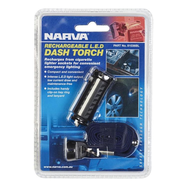 Narva Rechargable LED Cigarette Lighter Torch