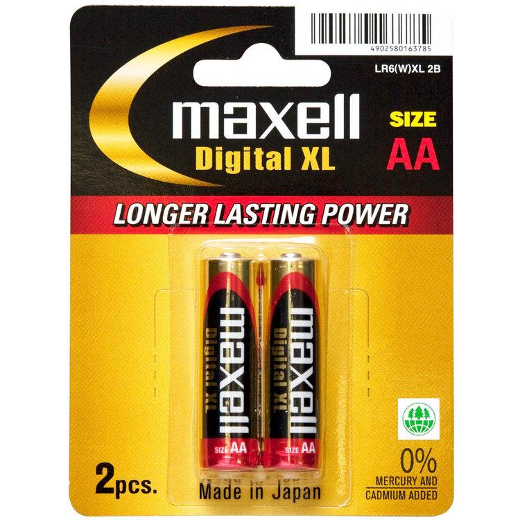 Maxell Digital XL Alkaline AA 2 Pack