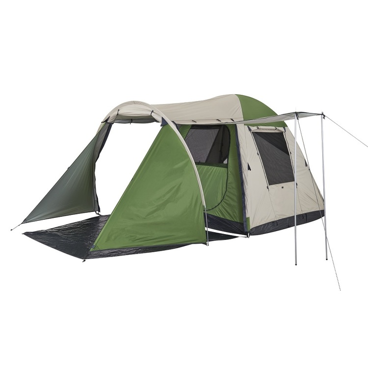 Spinifex Redcliffe 4 Person Vestibule Plus Tent Green & Beige