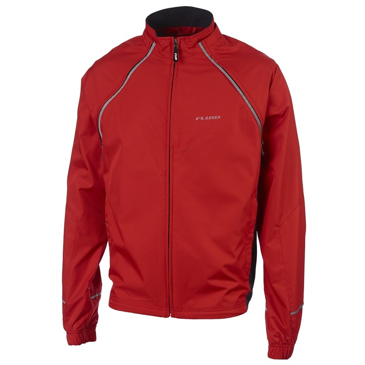Fluid Conversion Cycling Jacket Red