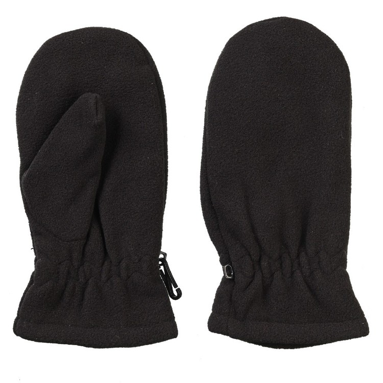 37 Degrees South Kid's Fleece Mittens Black