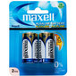 Maxell Premium Alkaline Battery C 2 Pack White Gold & Blue C