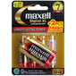 Maxell Digital Alkaline AA Batteries 4 + 2 Bonus Pack Black Gold & Red AA