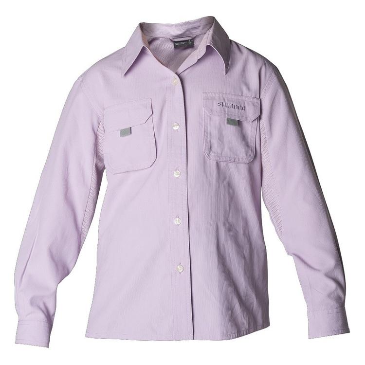 Shimano Kids' Lilac Vented Shirt