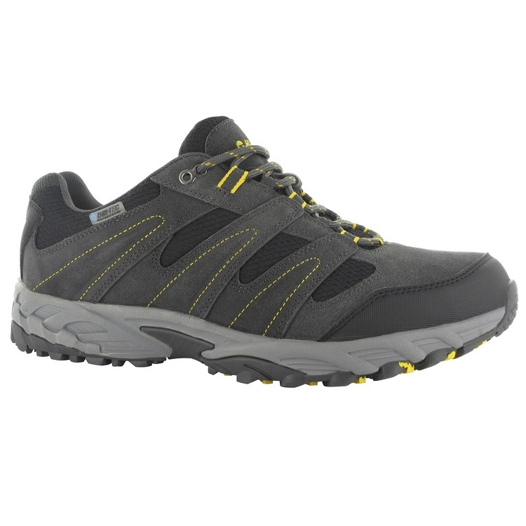 Hi Tec Men's Sensor Low Waterproof Shoes Charcoal & Black & Sunray