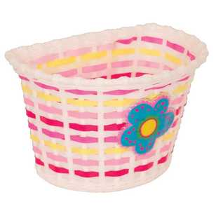 Bike Corp Kiddies Weave Basket With Blue Flower